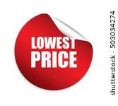 lowest price red sticker ... | Shutterstock . vector #503034274
