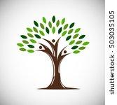 people life tree. vector... | Shutterstock .eps vector #503035105