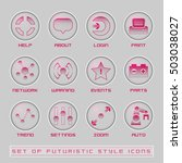futuristic style user interface ...