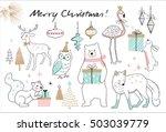 Christmas Hand Drawn Doodle...