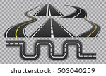 winding curved road or highway... | Shutterstock .eps vector #503040259