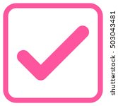 ok pink vector icon. image...