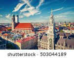 aerial view of munchen  new... | Shutterstock . vector #503044189