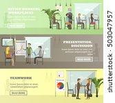 vector set of business... | Shutterstock .eps vector #503047957
