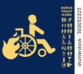 burn patient icon and bonus man ... | Shutterstock . vector #503052325