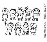 illustration vector hand drawn... | Shutterstock .eps vector #503056747