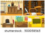 hand drawn vector cartoon set... | Shutterstock .eps vector #503058565