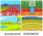 hand drawn vector cartoon set... | Shutterstock .eps vector #503058655