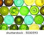 Variety Of Empty Wine Bottles...