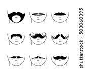 big set of vector hipster...   Shutterstock .eps vector #503060395