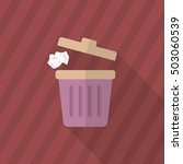 trash can icon   vector flat... | Shutterstock .eps vector #503060539