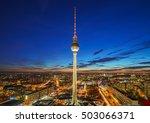 aerial view on alexanderplatz... | Shutterstock . vector #503066371