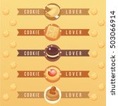 cookie lover elements   vector... | Shutterstock .eps vector #503066914