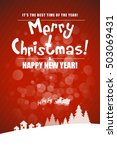 christmas greeting card. merry... | Shutterstock .eps vector #503069431