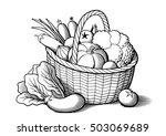 Vegetables In Wicker Basket....