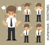 set businessman character.vector | Shutterstock .eps vector #503074681
