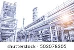 overall view of an oil and gas...   Shutterstock . vector #503078305