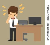 businessman cry. vector | Shutterstock .eps vector #503079367