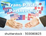 concept of tpp. trans pacific...   Shutterstock . vector #503080825