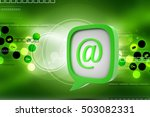 3d illustration of e mail icon... | Shutterstock . vector #503082331