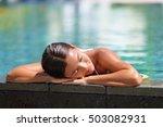 Woman Relaxing Sunbathing In...