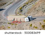 Truck Accident. Truck Lies On...
