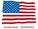 american national flag    Shutterstock .eps vector #503085361