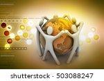 3d illustration of people...   Shutterstock . vector #503088247