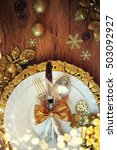 family holiday  christmas table ... | Shutterstock . vector #503092927