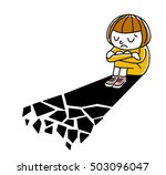 girls fall in despair  | Shutterstock .eps vector #503096047