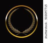 gold labels award with laurel... | Shutterstock .eps vector #503097715