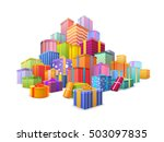 big mountain of bright ... | Shutterstock .eps vector #503097835