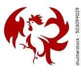Squawking Rooster Icon 01