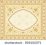 ornate yellow background in... | Shutterstock .eps vector #503102371