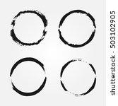 set of round frames. torn brush.... | Shutterstock .eps vector #503102905