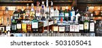 bangkok   oct 17   bottles of... | Shutterstock . vector #503105041