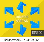 navigation arrows set eps10... | Shutterstock .eps vector #503105164