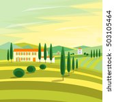 tuscany rural landscape with...   Shutterstock .eps vector #503105464