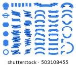 banner vector icon set gold... | Shutterstock .eps vector #503108455