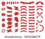 banner vector icon set gold... | Shutterstock .eps vector #503108479