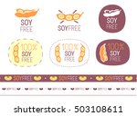 vector soy free sign set | Shutterstock .eps vector #503108611