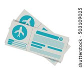 silhouette with flight tickets... | Shutterstock .eps vector #503109025