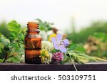 herbal aroma oil bottle with