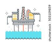 color line  offshore platform... | Shutterstock .eps vector #503109859