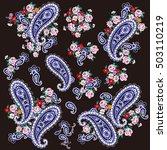 paisley material illustration | Shutterstock .eps vector #503110219