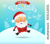 santa claus cartoon character... | Shutterstock .eps vector #503112031