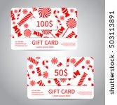 merry christmas gift card or... | Shutterstock .eps vector #503113891