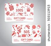 merry christmas gift card or... | Shutterstock .eps vector #503113915