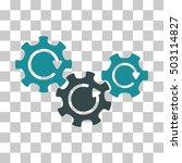 soft blue transmission gears...   Shutterstock .eps vector #503114827