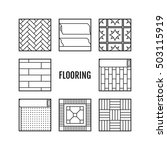 flooring. flat icons of... | Shutterstock .eps vector #503115919